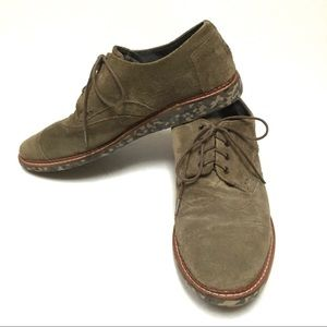 Toms camo wing tip suede oxford loafers 12